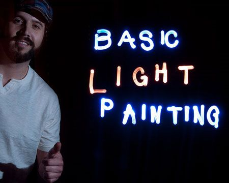 Light Painting With A DSLR Photography Set Basic Tutorial About The Process Of