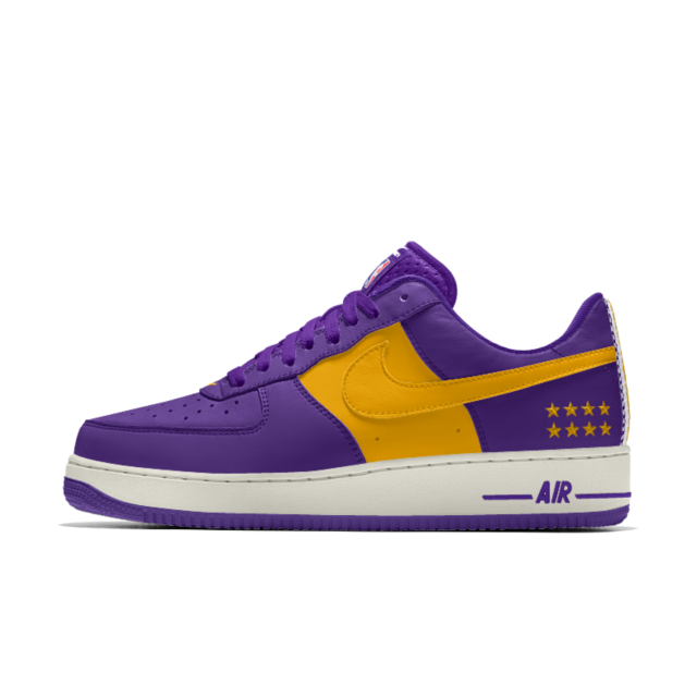 buy popular c9b44 1de18 Nike Air Force 1 Low Premium iD (Los Angeles Lakers) Men s Shoe