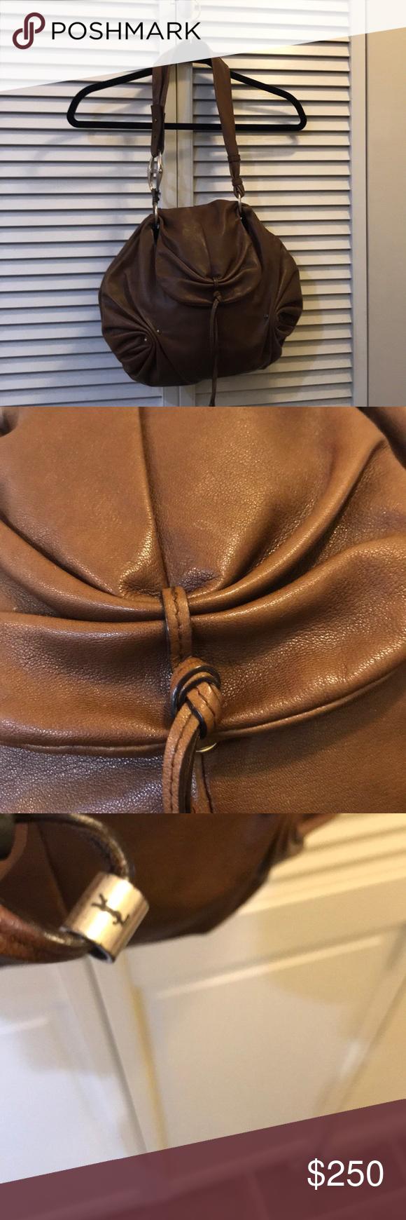 YSL MAMOUNIA BAG Brown goat leather closure