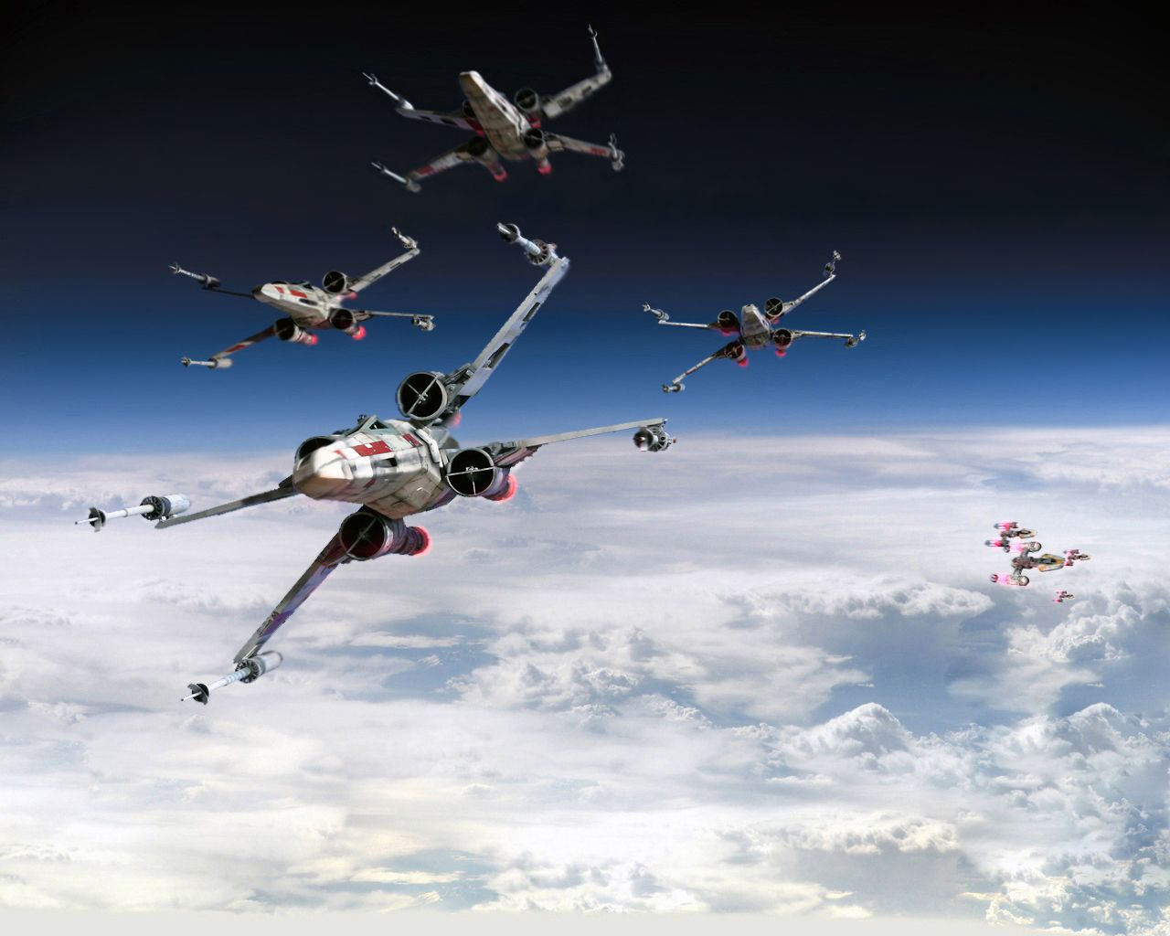 Rogue Squadron By 1darthvader On Deviantart Star Wars Wallpaper Star Wars Ships Star Wars Poster