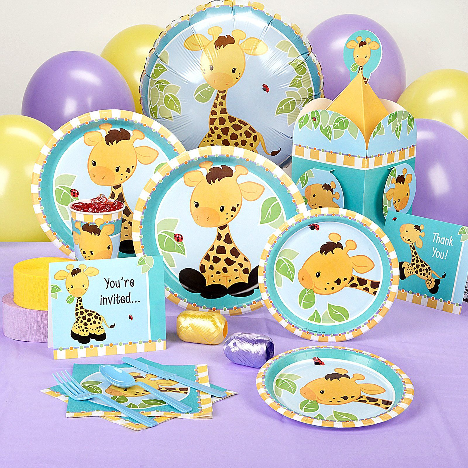 Giraffe Baby Shower Standard Party Pack , Baby Showers, Pink Giraffe  Birthday Party Girl Cake Ideas Decorations , This Shower, Inspired By A.