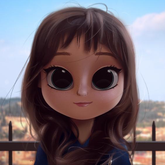 Cartoon Portrait Digital Art Digital Drawing Digital Painting Character Design Drawing Big Eyes C Digital Art Girl Kawaii Drawings Cartoon Girl Drawing