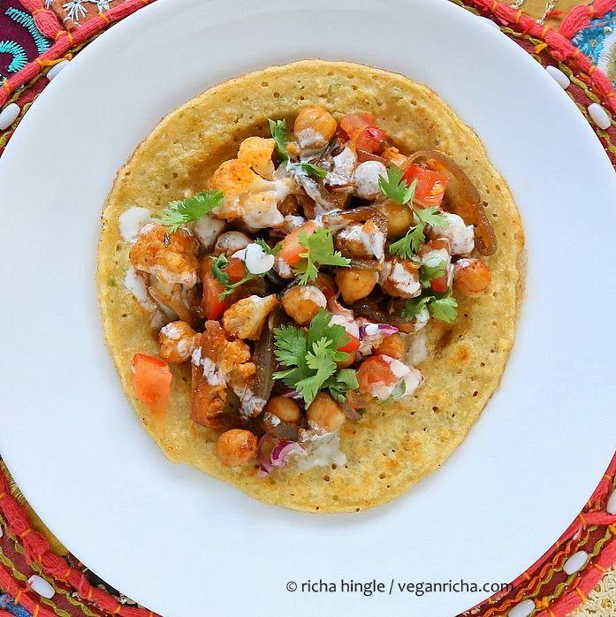 Chickpea Cauliflower Tacos With Lentil Tortillas Recipe Grain