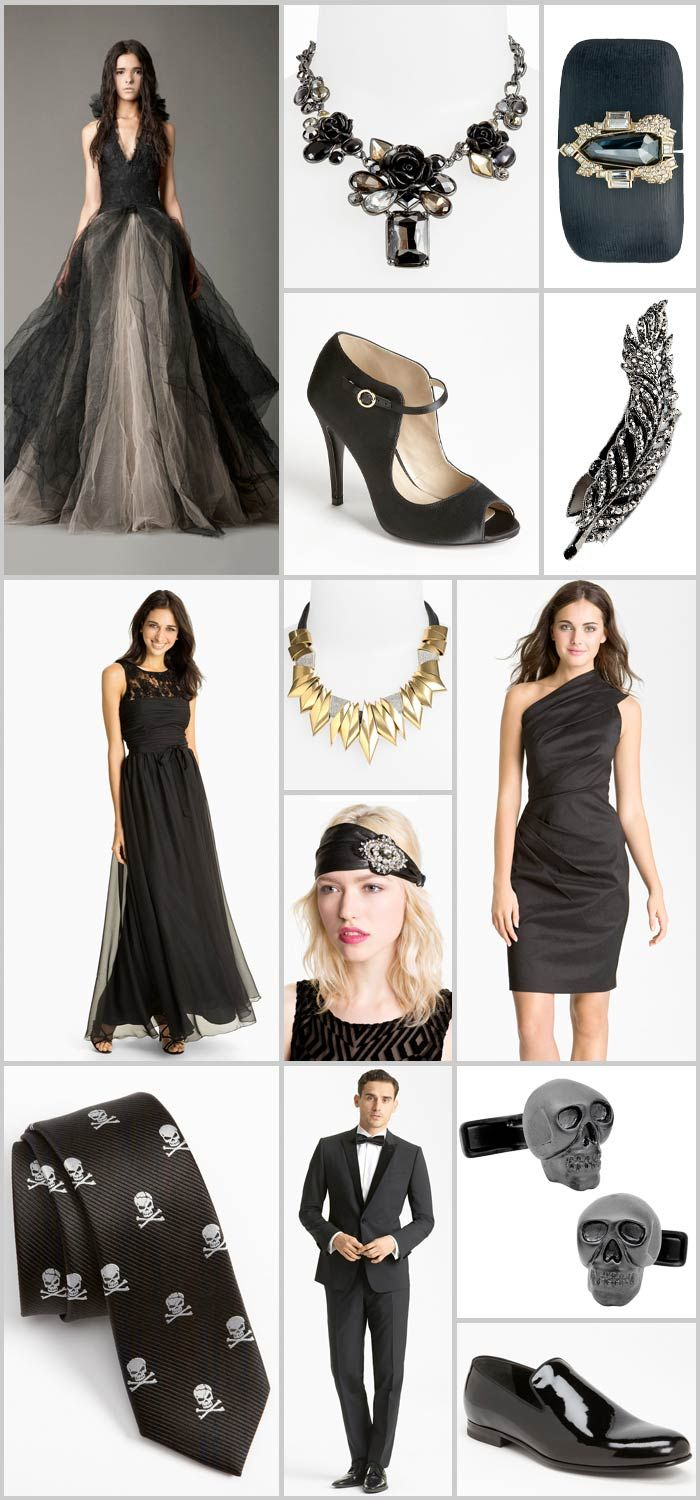 Brooding Glamour: A Halloween Wedding | Monique lhuillier dresses ...