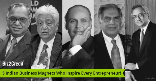 Here are the five greatest Indian entrepreneurs who inspire every business person on earth.