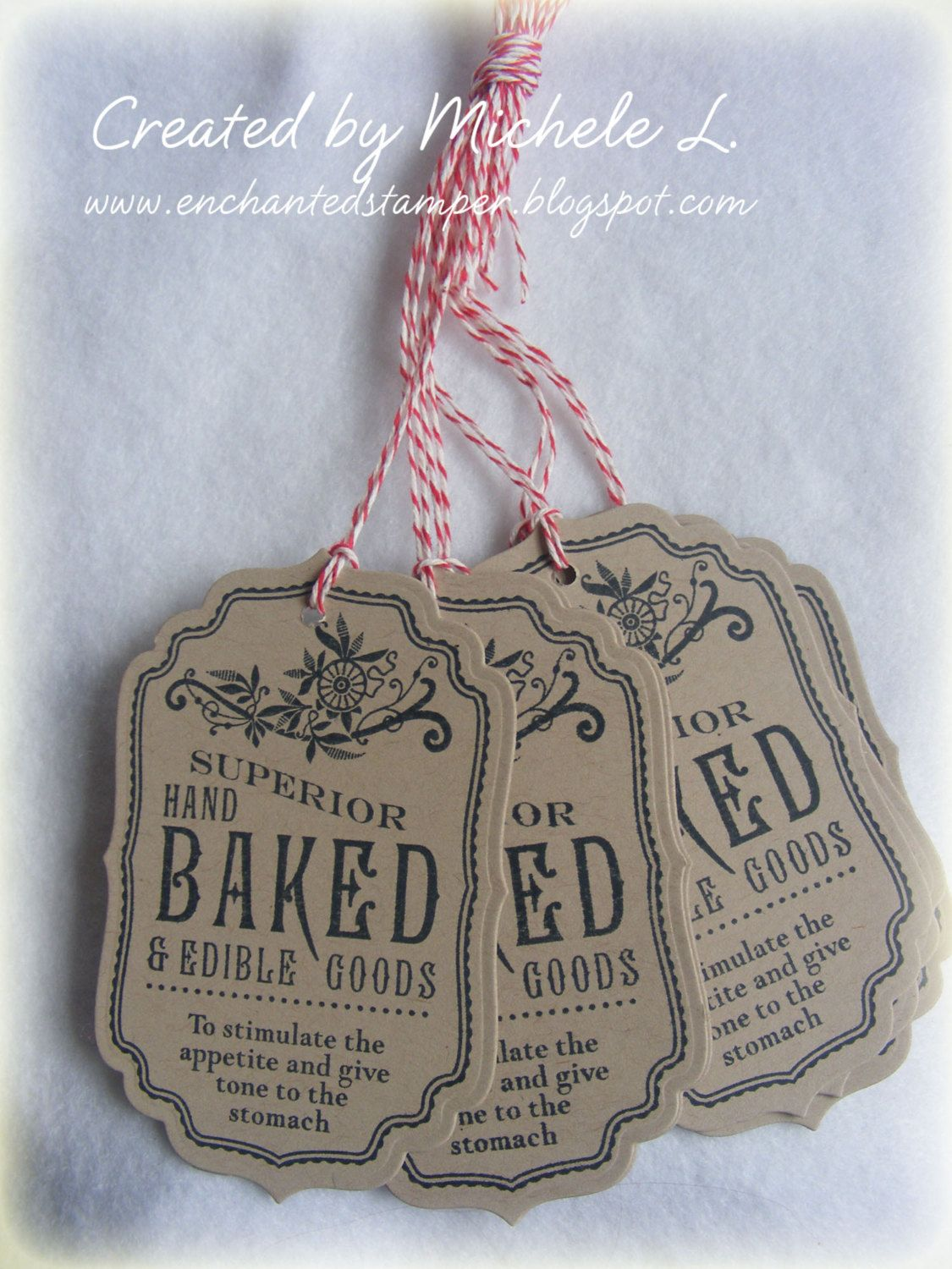 Tags - hand baked & edible goods