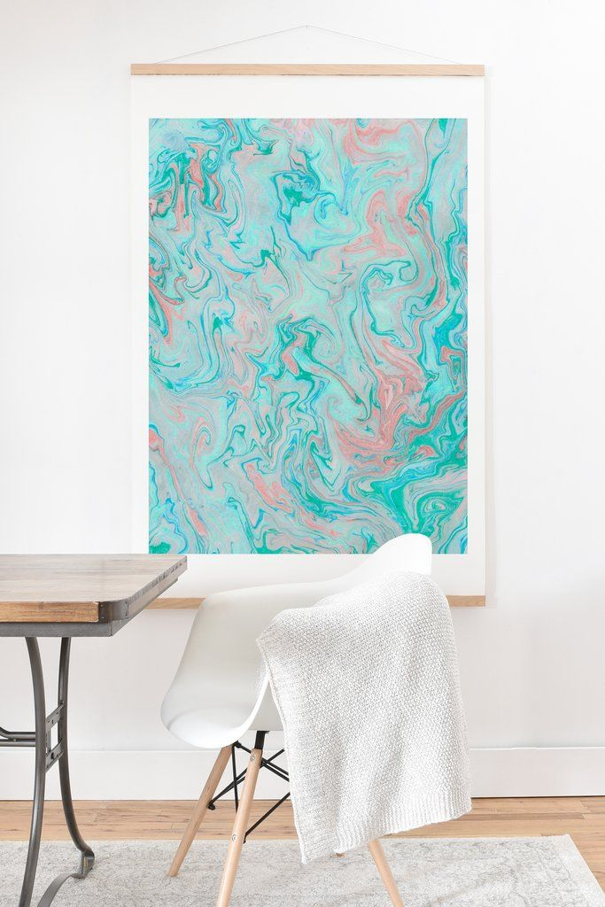 Lisa Argyropoulos Marble Twist Art Print And Hanger Deny Designs Home Accessories