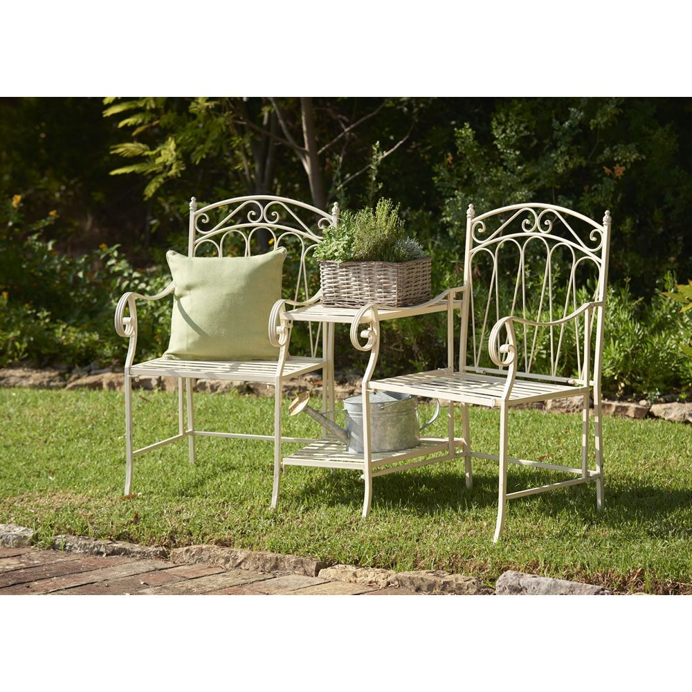 wilko romance love seat 2 seater garden furnitureoutdoor - Wooden Garden Furniture Love Seats