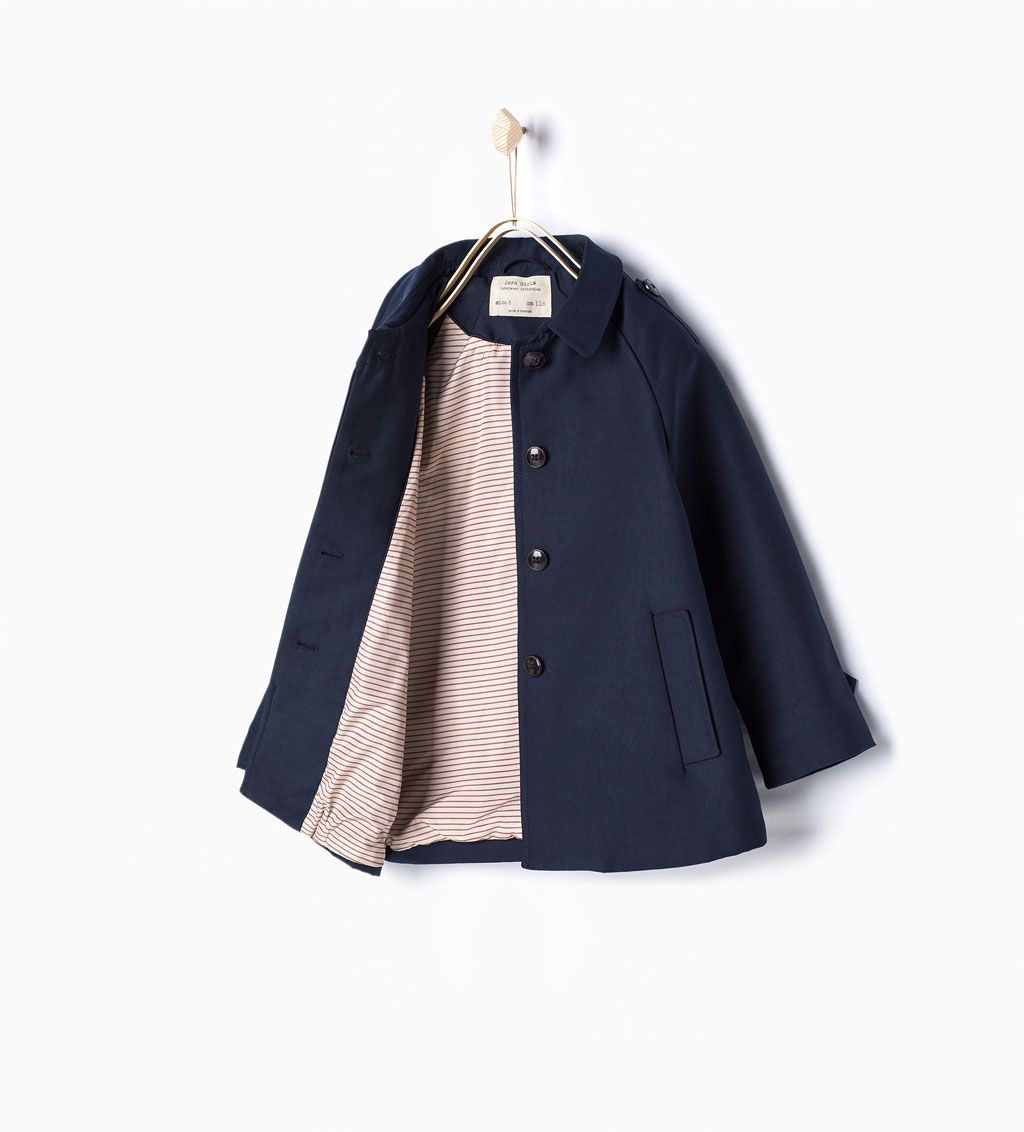 Trench Coat With Pockets View All Coats Girl 3 14 Years Kids Zara Kinder Mantel Babymoden Madchen