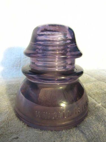 Purple Whitall Tatum Co No 1 Gl Insulator Ebay