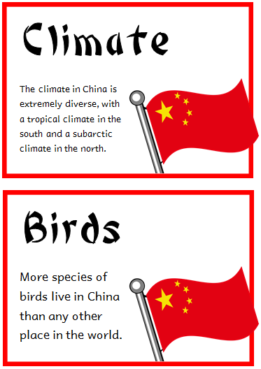 China Fact Cards Treetop Displays Printable Eyfs Ks1 Ks2 Classroom Displays Primary Teaching Resources China Facts China For Kids World Thinking Day