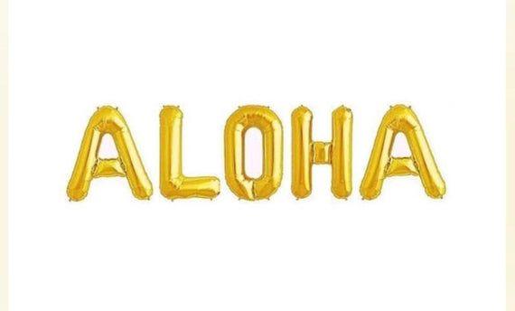 Aloha Balloon Banner/Moana Party/Aloha Party #alohaparty