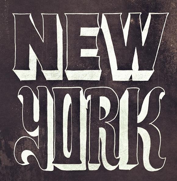 New York | Typography | Handmade / Handwritten