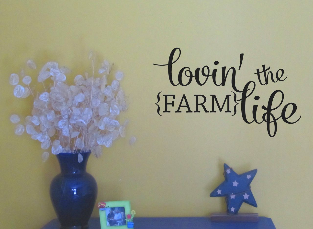 Lovin the farm life wall decals quotes western wall stickers lovin the farm life wall decals quotes western wall stickers amipublicfo Images