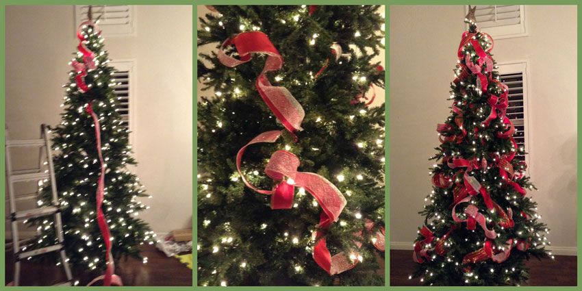 Como poner liston en un arbol de navidad