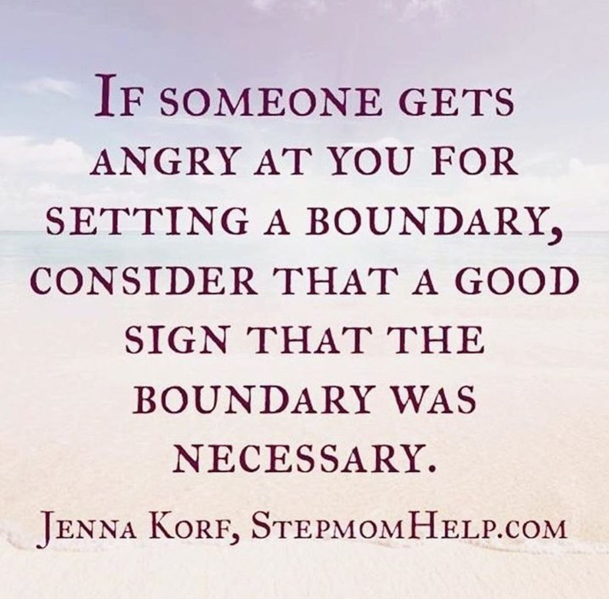 Boundaries are a good thing, especially if its dealing