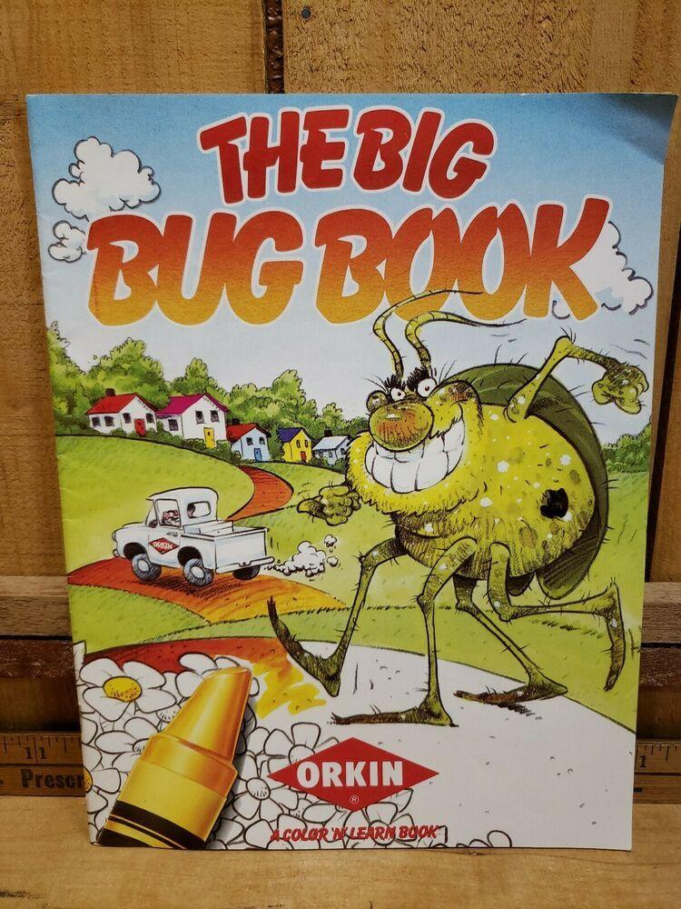 Vintage 1993 Orkin Pest Control The Big Bug Book Color N Learn Advertising Orkinpestcontrol Orkin Pest Control Learn Advertising Pest Control