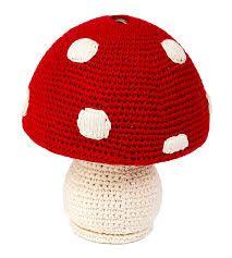 Mealheiro em crochet - Cogumelo
