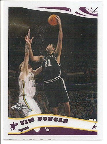 Tim Duncan San Antonio Spurs 2005-06 Topps Chrome Basketball Card 13 *** This is an Amazon Affiliate link. Continue to the product at the image link.