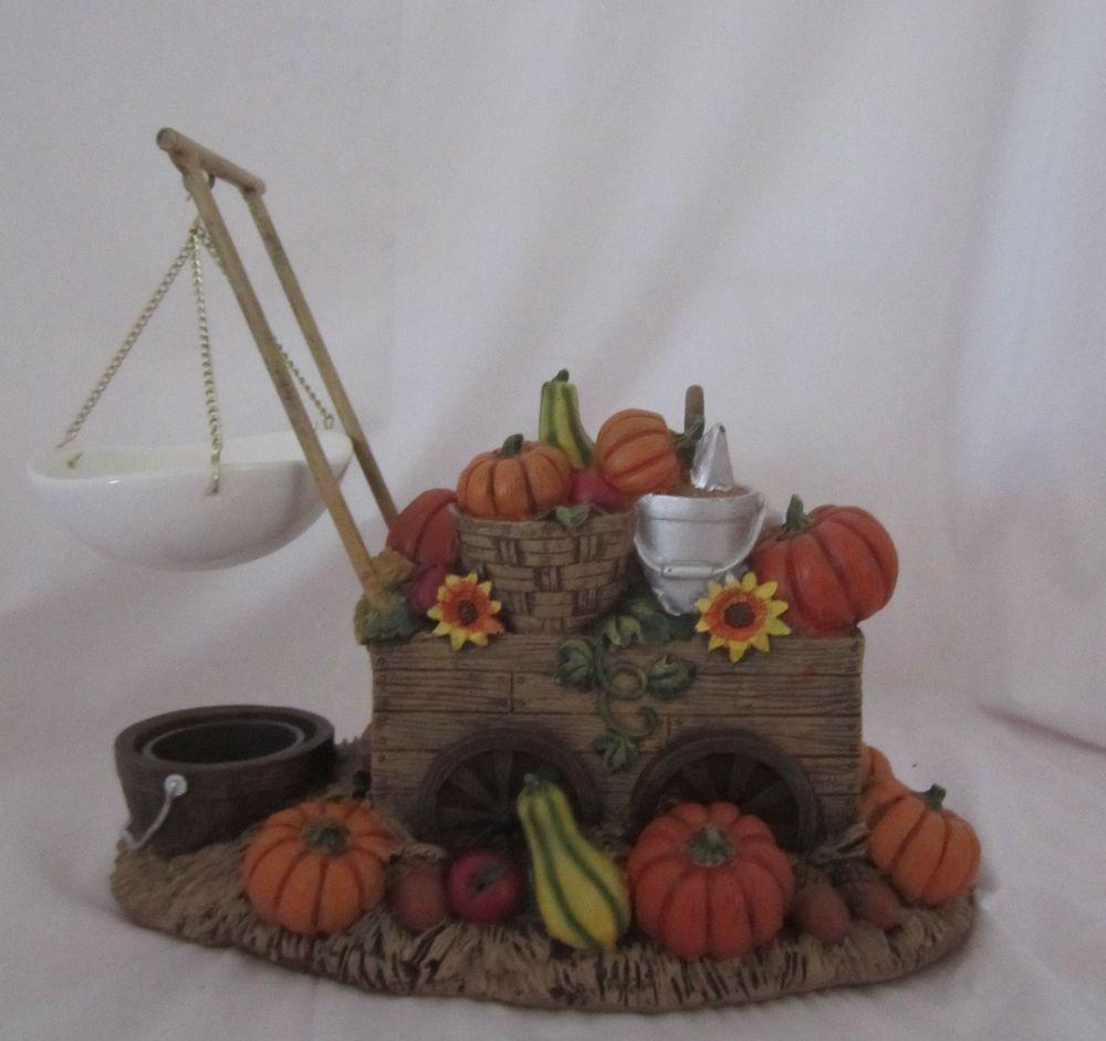 Yankee Candle Hanging Tart Wax Burner Warmer Fall Pumpkin Cart NEW #YankeeCandle