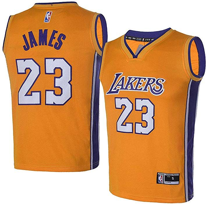 Amazon.com  OuterStuff Youth Los Angeles Lakers  23 LeBron James Kids Gold  Jersey (Youth L)  Clothing 42e2288c4