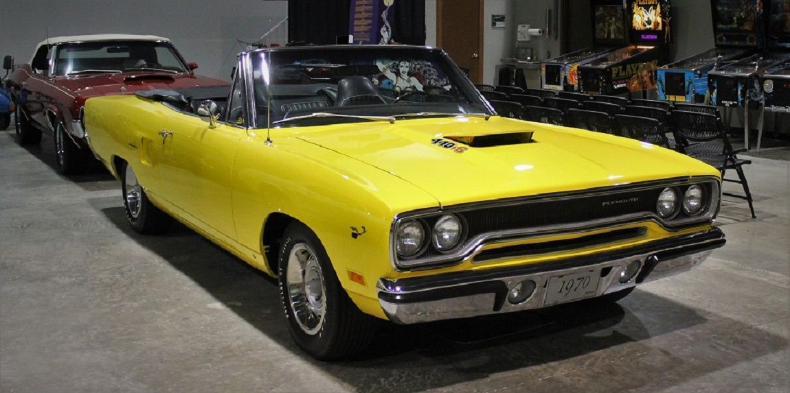 Plymouth Road Runner Yellow Convertible Classic