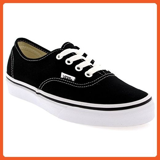 21706a13342 Vans Authentic Unisex Skate Trainers Shoes Black 8 B(M) US Women   6.5