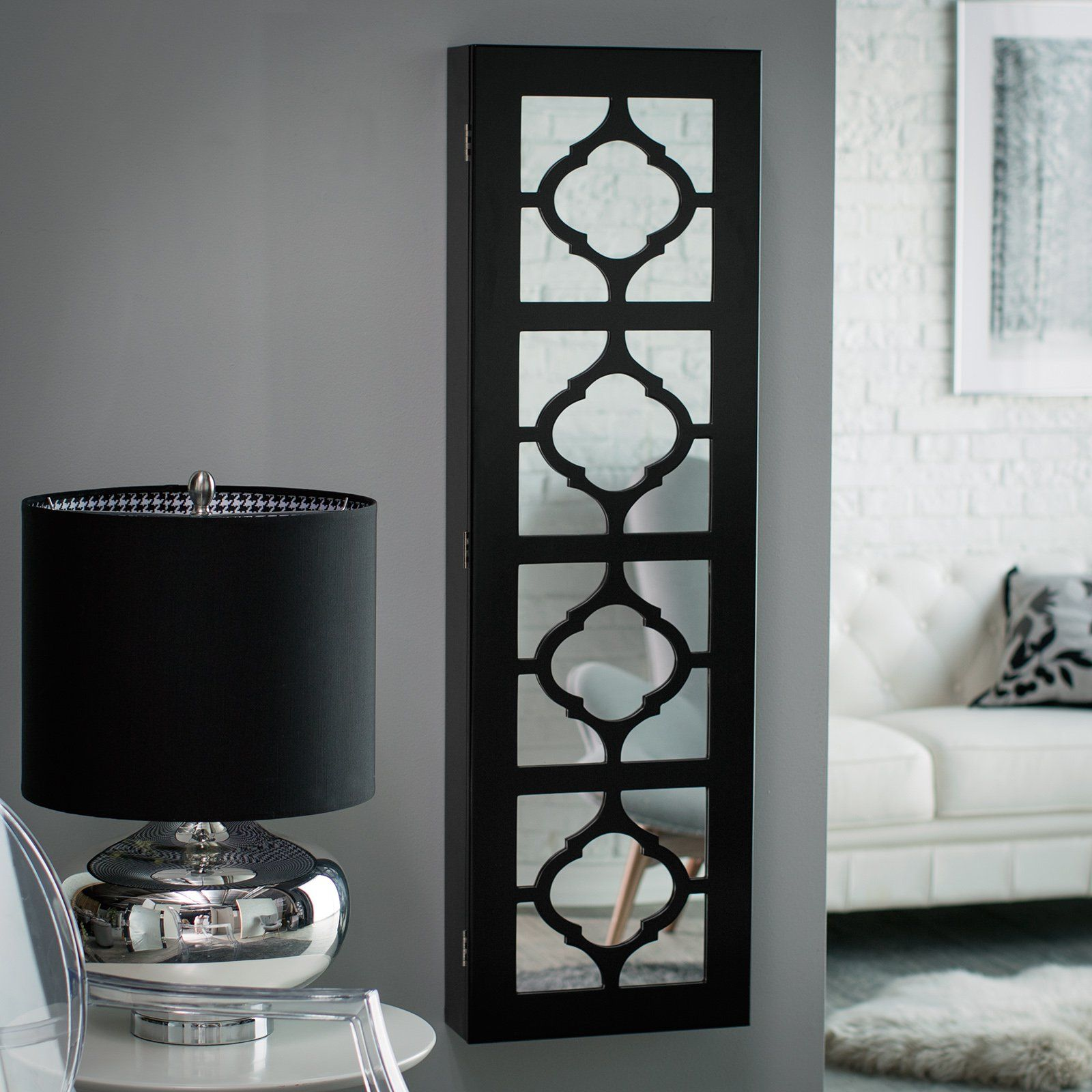 Have to have it Belham Living Lighted Locking Quatrefoil Wall Mount