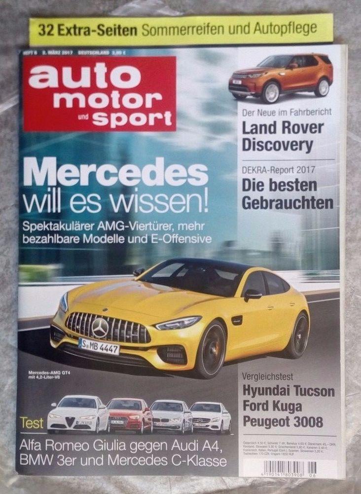 """auto  motor und sport! """" Mercedes will es wissen"""" ! Ausg.:   2. März 2017 !.NEU!"""