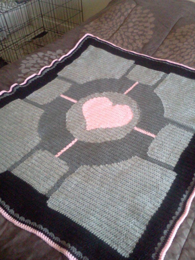 How To Crochet A Portalpanion Cube Throw Blanket