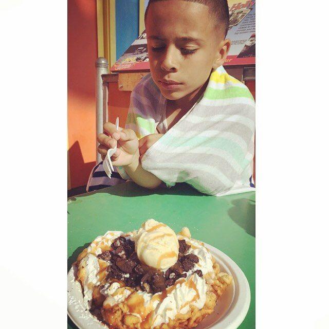 Santa Cruz CA: Being fat #wasworthit #funnelcake by lil_86