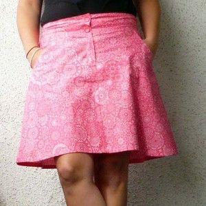 Sukně s kapsami návod a střih  b97b5a9a5b