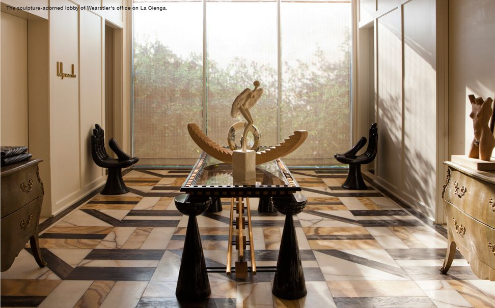 The Sculpture Adorned Lobby Of Kelly Wearstleru0027s Office.