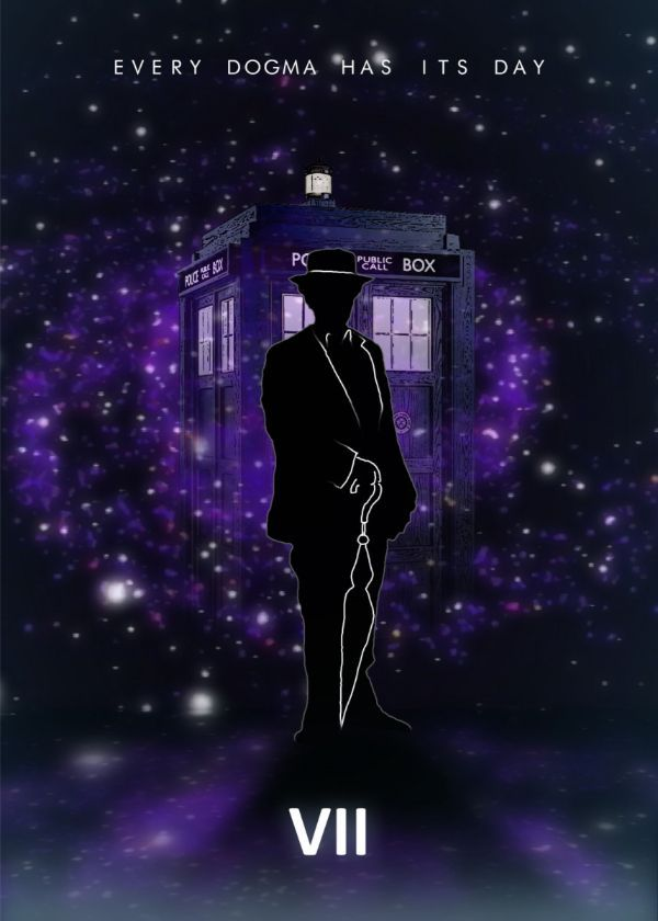 Doctor Who With TARDIS Doctor Displate Posters