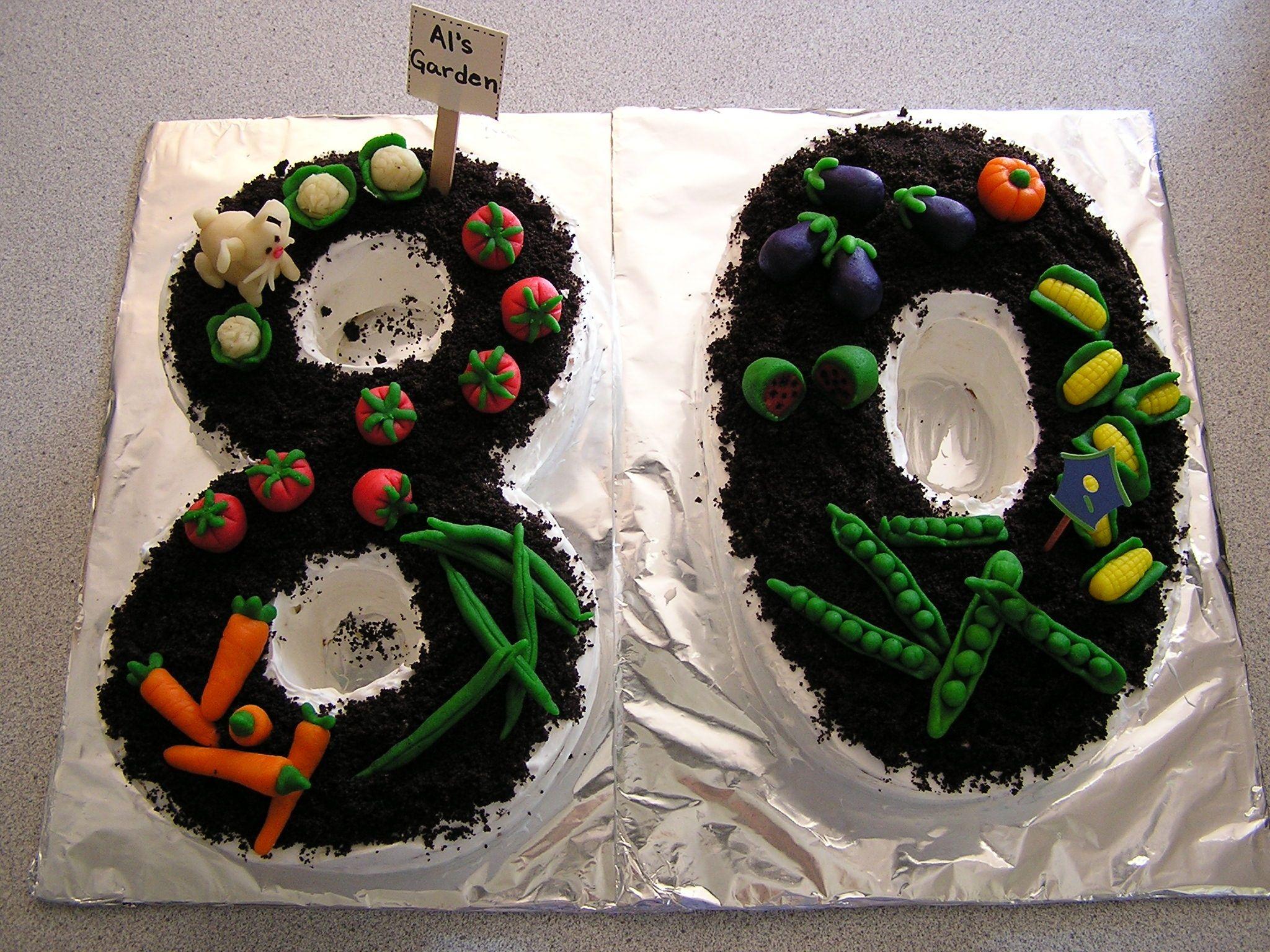 Garden Cake For Dads 80th Birthday Favorite Recipes Pinterest