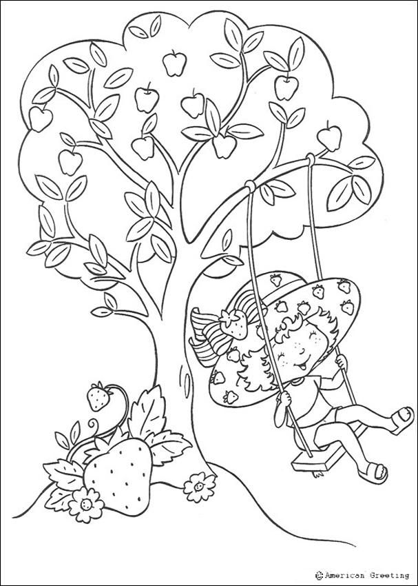 Pics For > Orange Blossom Strawberry Shortcake Coloring