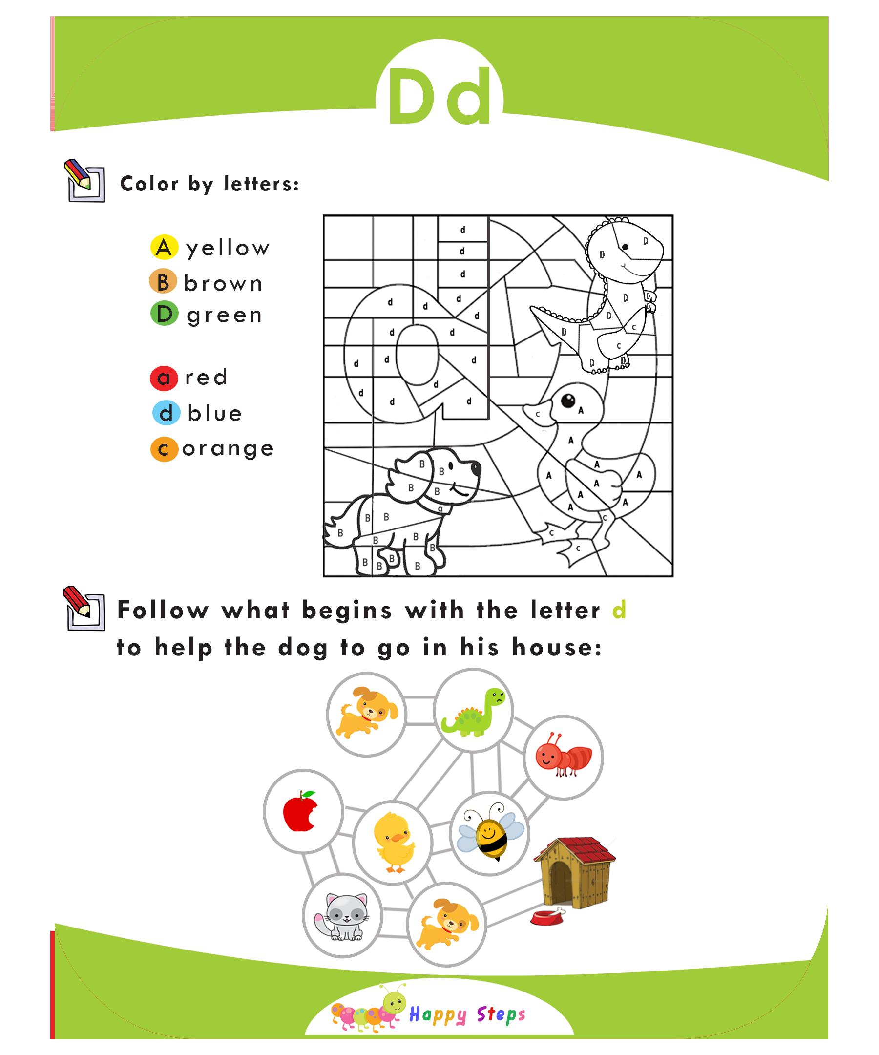 Activity Worksheet 3 Letter D