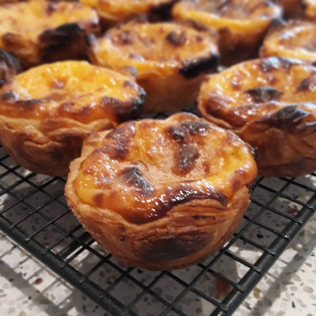 Don't miss out on the opportunity to grab one of our popular Portuguese custard tarts at the @taranafarmersmarket on Sunday.