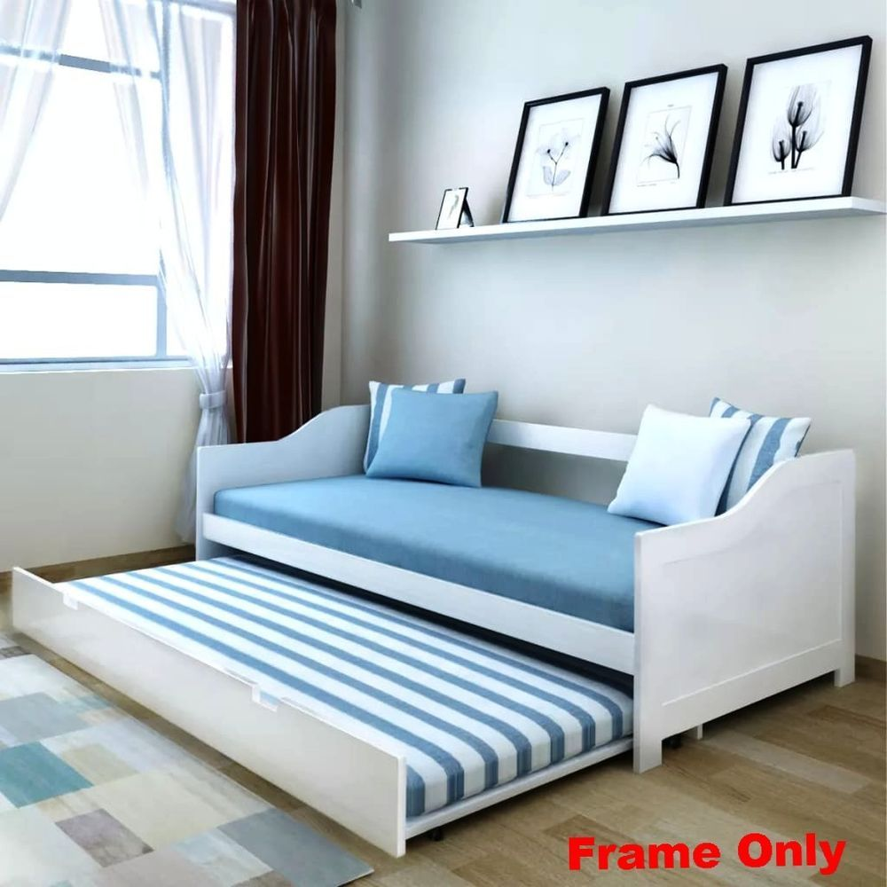 Cool Large Pull Out Sofa Day Bed Double Deck Frame Guest Daybed Evergreenethics Interior Chair Design Evergreenethicsorg