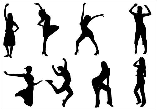 dance party clip art pack clip art silhouettes and dancing rh pinterest com Gala Clip Art Party People Clip Art