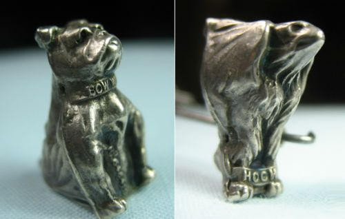 Extremely Rare Usa And Great Britain Patriotic Wwi Antique Silver