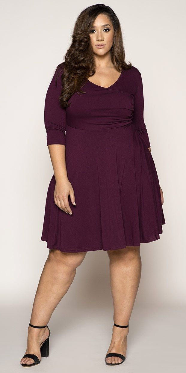Plus Size Fit And Flare Dress Plus Size Fall Dress Plus Size