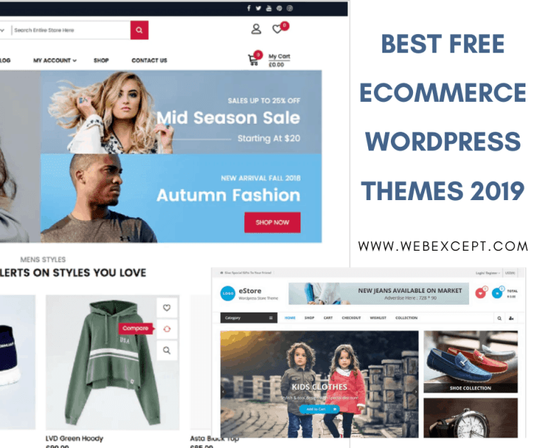 20 Best Free Ecommerce Wordpress Themes Free Download Free Ecommerce Ecommerce Free Wordpress Themes