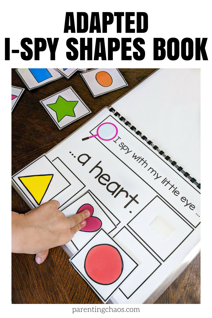 Adapted I Spy Shapes Book Free Printable Shape Books Math For Kids Autism Activities