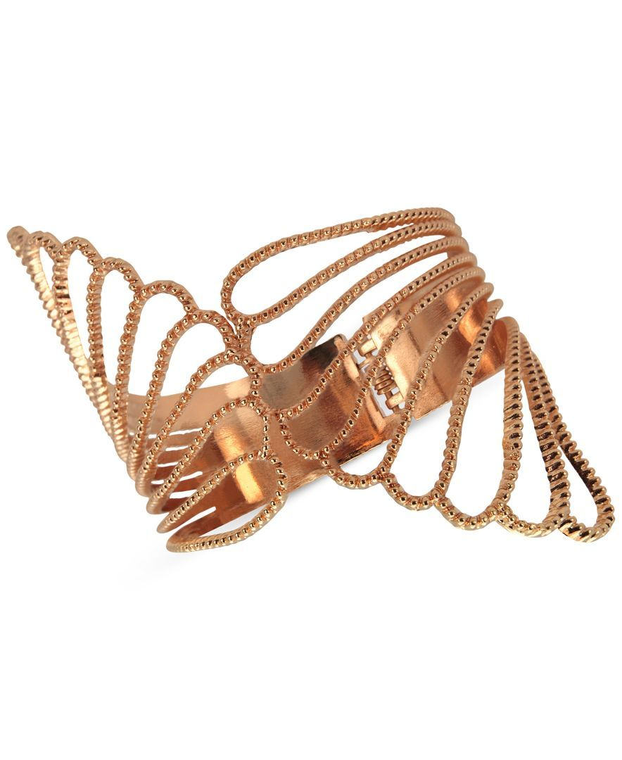Guess Cut-Out Wings Bypass Hinge Bracelet
