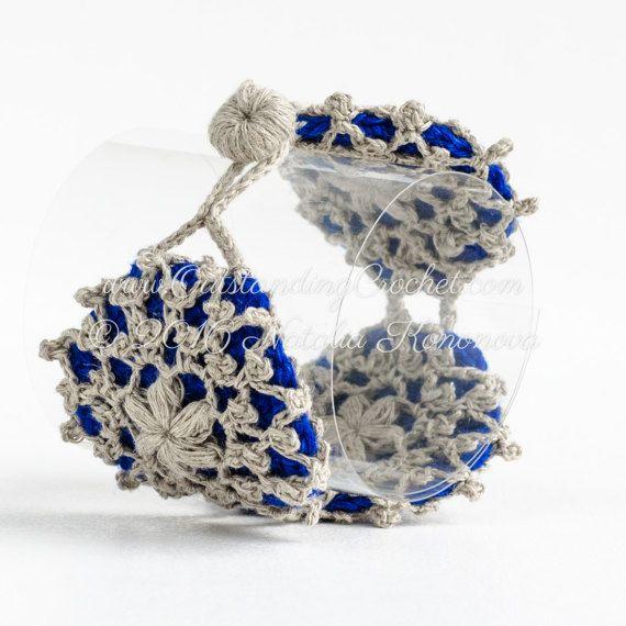 Crochet Necklace PATTERN - Snowflake Bracelet Jewelry Set - Wide ...