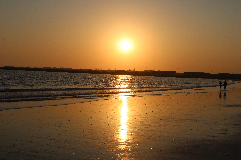 atardecer en la playa de valdelagrana en el Puerto de Santa María