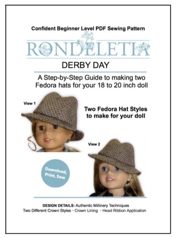 Rondeletia Derby Day Doll Clothes Pattern 18 inch American Girl Dolls | Pixie Faire #instructionstodollpatterns