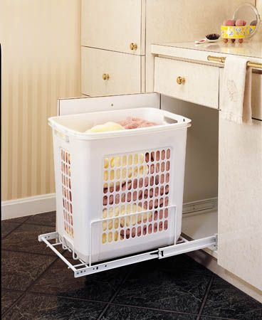 Pull Out Polymer Hamper 14 3 8 Wide Laundry Hamper Rev A Shelf