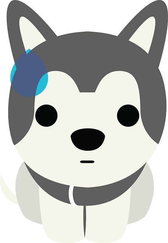 Siberian Husky Emoji Sweating And Speechless Look Sticker